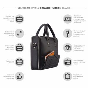 Вместительный черный мужской портфель рюкзак BRL-23165 234949