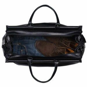 Кожаная черная мужская сумка BRL-149 233327