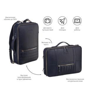 Функциональная синяя мужская сумка для документов BRL-23146