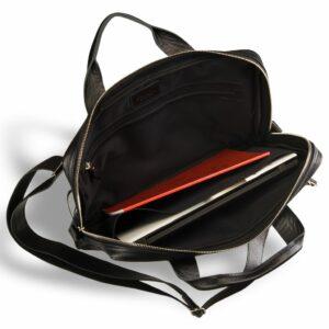 Кожаная черная мужская сумка BRL-9547 233864