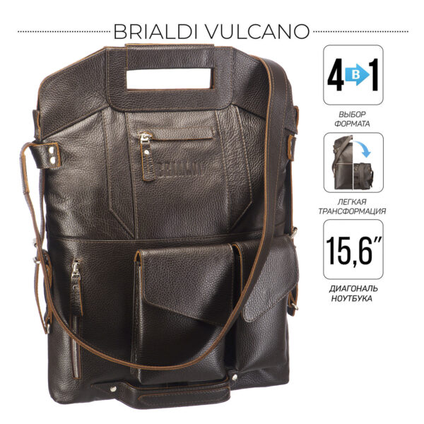 Неповторимая коричневая мужская сумка BRL-28434