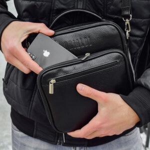 Уникальная черная мужская сумка для документов BRL-12934 234066