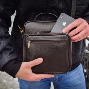 Солидный коричневый мужской планшет BRL-12937 234100