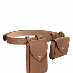 Вместительная темно-оранжевая женская поясная сумка FBR-2454 236556