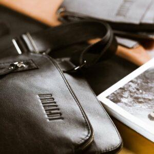 Функциональная черная мужская сумка через плечо BRL-1518 233541