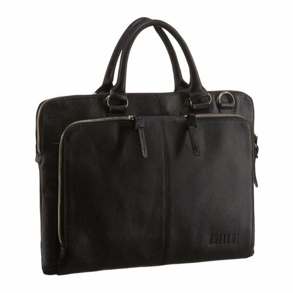 Функциональная черная мужская сумка для документов BRL-779