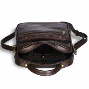 Функциональная коричневая мужская барсетка BRL-12936 234085