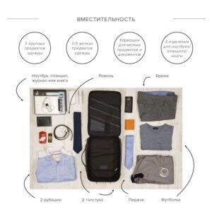 Функциональная синяя мужская сумка для документов BRL-23146 235017