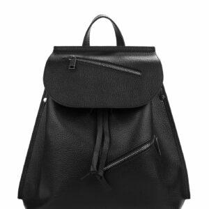 Кожаный черный женский рюкзак FBR-1459