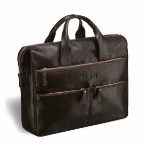 Функциональная коричневая мужская сумка для документов BRL-3209