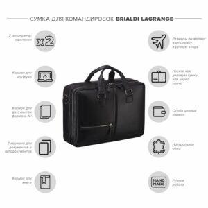 Уникальная черная мужская сумка BRL-23116 234811