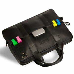 Кожаная черная мужская сумка BRL-9547 233862