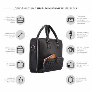 Солидная черная мужская классическая сумка BRL-23166 234978
