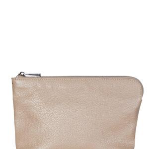 Кожаный бежевый женский клатч FBR-1088