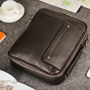 Удобная коричневая мужская сумка BRL-19878 234658