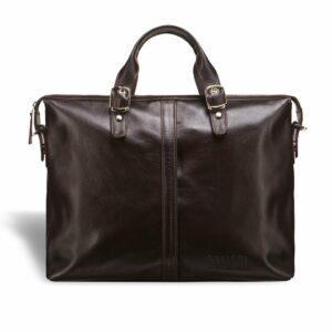 Удобная коричневая мужская сумка для документов BRL-3221 233606