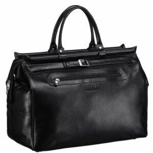 Кожаная черная мужская сумка BRL-149