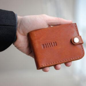 Удобный темно-оранжевый мужской бумажник BRL-7593 233775