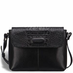 Кожаная черная женская сумка BRL-15208 234228