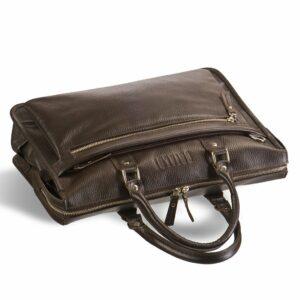 Солидная коричневая мужская сумка для документов BRL-12048 233941