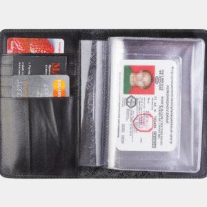 Стильная черная обложка для паспорта ATS-2222 233021