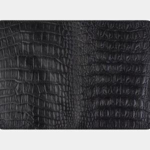 Стильная черная обложка для паспорта ATS-2222 233020