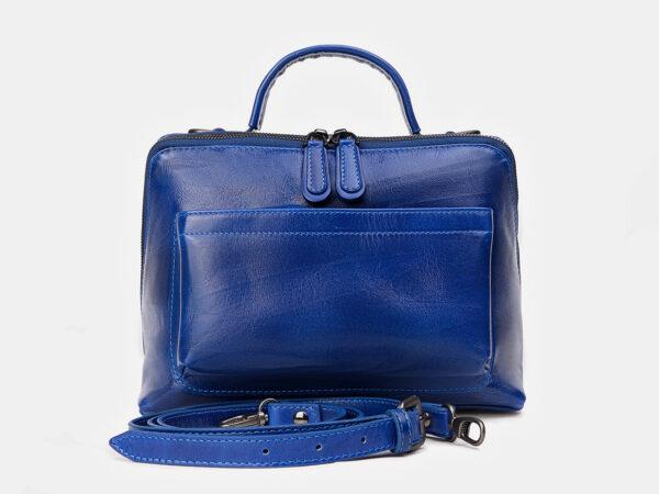 Удобная голубовато-синяя женская сумка ATS-3391