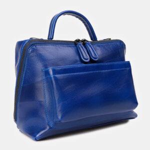 Удобная голубовато-синяя женская сумка ATS-3391 233254