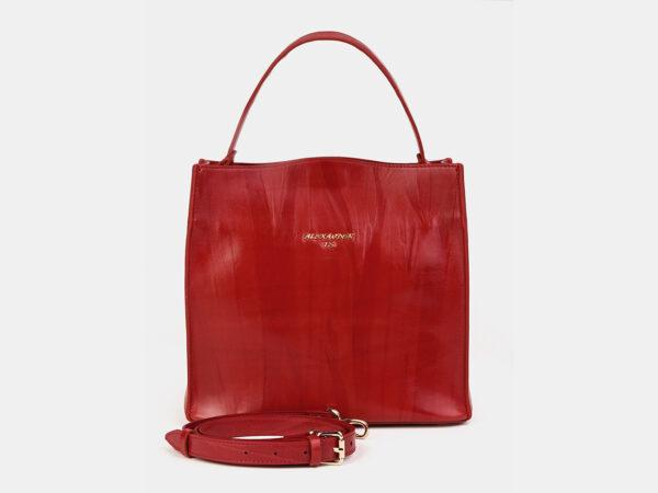 Деловая красная женская сумка ATS-3581