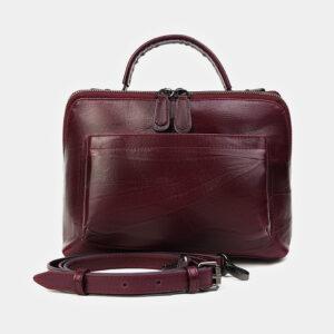 Модная бордовая женская сумка ATS-3467