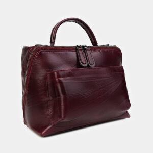 Модная бордовая женская сумка ATS-3467 236529