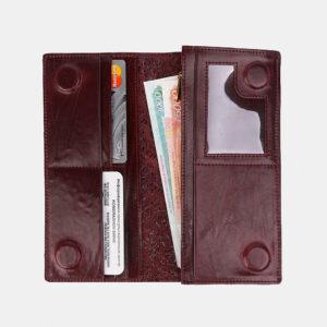 Стильный бордовый кошелек ATS-3491 236365