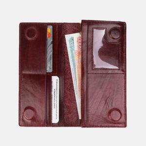 Стильный бордовый кошелек ATS-3489 236375