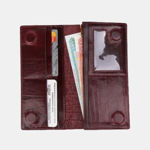 Деловой бордовый кошелек ATS-3490 236370
