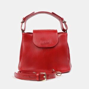 Вместительная красная женская сумка ATS-2949