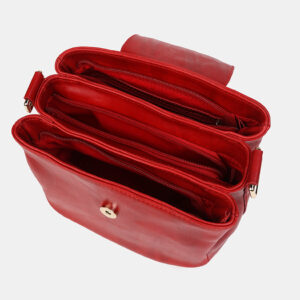 Вместительная красная женская сумка ATS-2949 235756