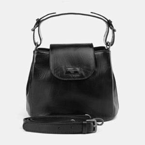 Функциональная черная женская сумка ATS-2549