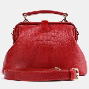 Солидная красная женская сумка ATS-4041