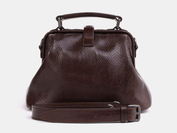 Солидная коричневая женская сумка ATS-4042