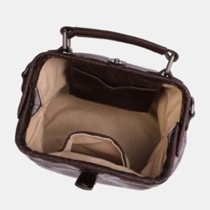 Солидная коричневая женская сумка ATS-4042 232842