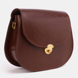 Кожаный светло-коричневый женский клатч ATS-4043 233244