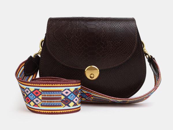 Модный коричневый женский клатч ATS-4046