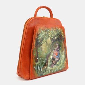 Удобный оранжевый рюкзак с росписью ATS-4059 233202