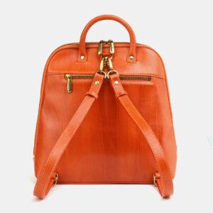 Удобный оранжевый рюкзак с росписью ATS-4059 233203