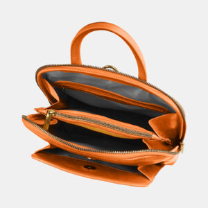 Удобный оранжевый рюкзак с росписью ATS-4059 233204