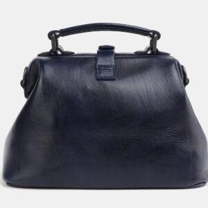 Уникальная синяя сумка с росписью ATS-4061 233193