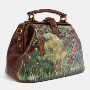 Стильная светло-коричневая сумка с росписью ATS-4060 233197