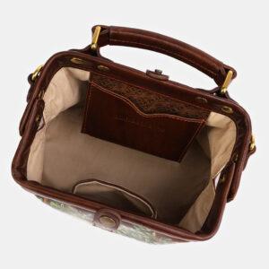 Стильная светло-коричневая сумка с росписью ATS-4060 233199