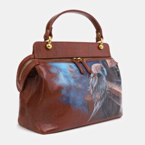 Удобная светло-коричневая сумка с росписью ATS-4062 233187