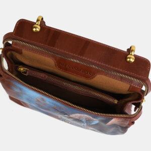 Удобная светло-коричневая сумка с росписью ATS-4062 233189
